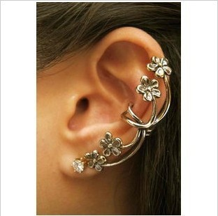 ES244 Hot 2017 New Style Wholesales Fashion The plum blossom Ear Cuff Earring clip Jewelry