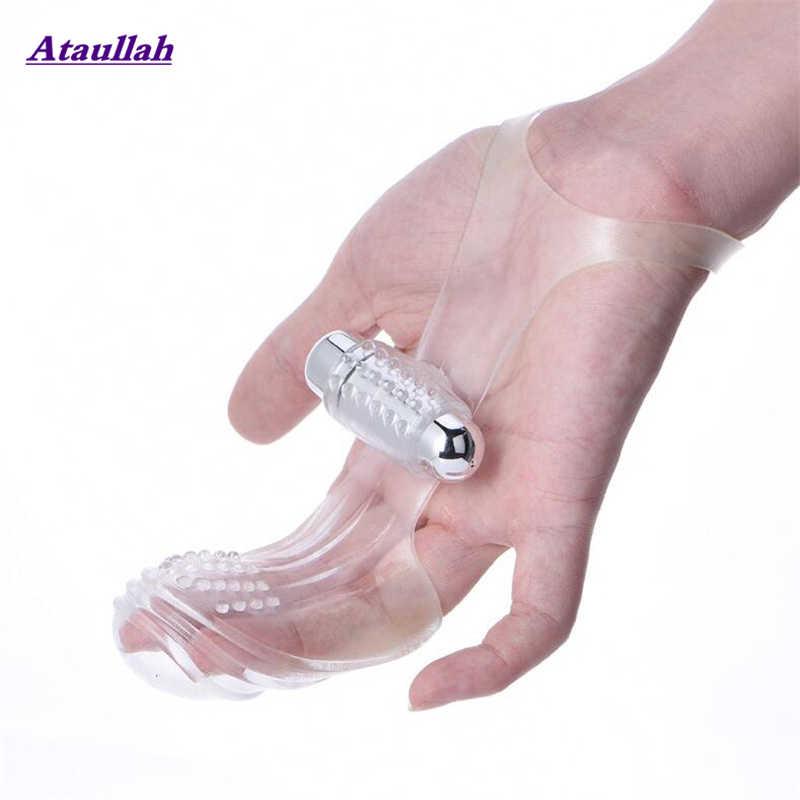 Ataullah dedo manga vibrador masturbador feminino g local massagem clit estimular brinquedos sexuais para mulheres orgasmo lésbica produto adulto