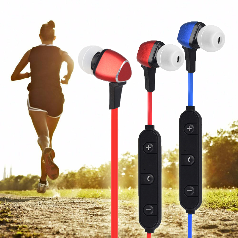 Bluetooth Headset Magnet Metal Sports Earphone  Wireless Earbud Stereo Headphone With Mic Neckband for iPhone 7 Samsung S8 qcy q26 mono earbud business mini headset car calling wireless headphone bluetooth earphone with mic for iphone 6 7 s8 android