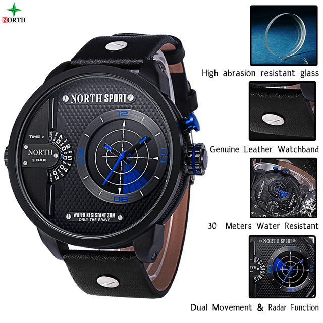 Real Radar Scanning Men Sport Watch LED Digital Watch Analog Round Wristwatch Male Waterproof Fashion Quartz Sport Watch Men
