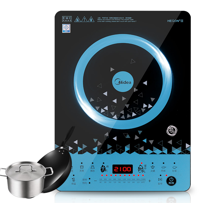 Midea C21 WT2112T Induction Cooker Genuine Home Intelligent Electric Furnace Uniform Fire Touch Screen Kitchen Appliances