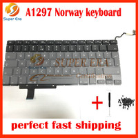 10pcs Lot Brand New LAPTOP Norway KEYBOARD FITS For MacBook Pro 17 Unibody A1297 Keyboard Nordic