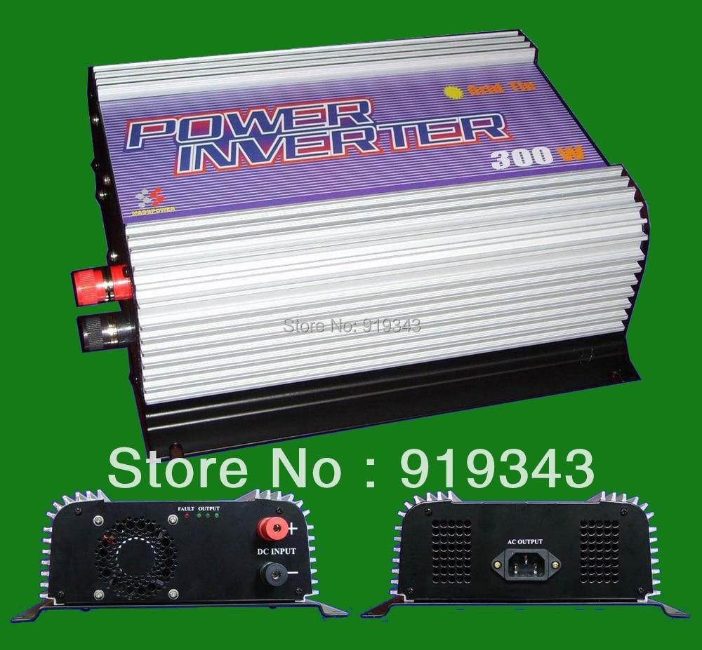 300W solar grid tie inverter, Input 10.8V~30VDC/22V~60VDC,Output 90V~130VAC/190V~260VAC