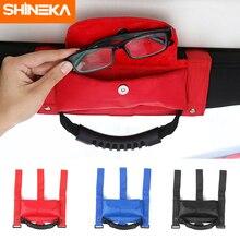 SHINEKA Auto Roll Bar Haltegriff mit Sonnenbrille Halter Lagerung Tasche Armlehne Tasche Tasche Zubehör für Jeep Wrangler CJ TJ JK JL