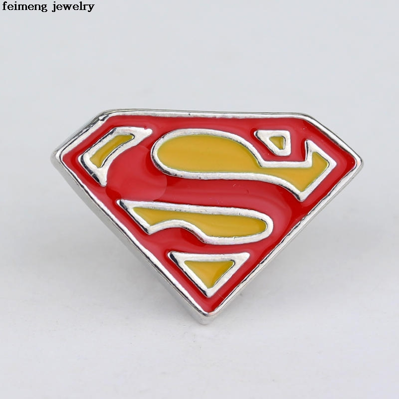 Wholesale 20pcs/lot Superman Brooch Pins Superhero DC Comics Suit Red Enamel lapel pin m ...