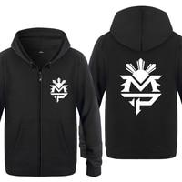 Fitness Manny Pacquiao Logo Sweatshirts Men 2018 Mens Zipper Hooded Fleece Hoodies Cardigans