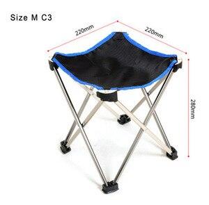 Image 3 - 屋外家具軽量釣り折りたたみ椅子アルミ合金ポータブル小椅子
