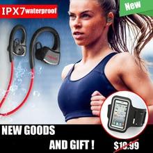 P10 IPX7 Водонепроницаемый плавательный гарнитуры спортивные Беспроводной Bluetooth V4.1 наушники Запуск наушники с микрофоном Музыка играет