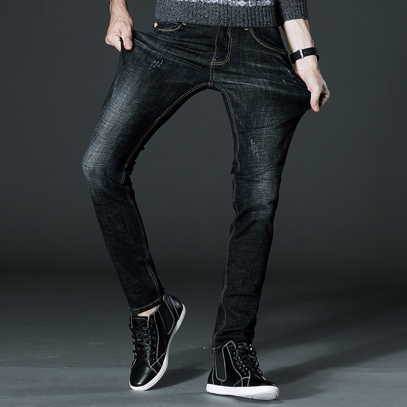 2018 New Design Jeans Men Famous Brand Men Slim Jeans Size 28 To 44 Black Blue Stretch Denim Regular Men Jean For Man Pants