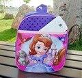 Mochilas de dibujos animados para niños de jardín de infantes elsa sofia bolso de escuela del bolso para los niños