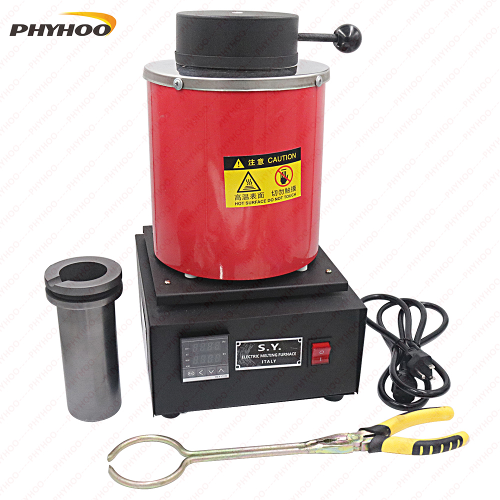 2KG mini melting furnace, metal melting furnaces, small melting furnace 220v 110v ...