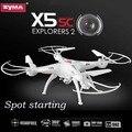 Syma X5C-1 x5sc (Blanco y negro) 2.4G 4CH 6-Axis 2MP Profesional Drone Juguetes DEL Helicóptero de RC Quadcopter Con Cámara de 2.0 MP