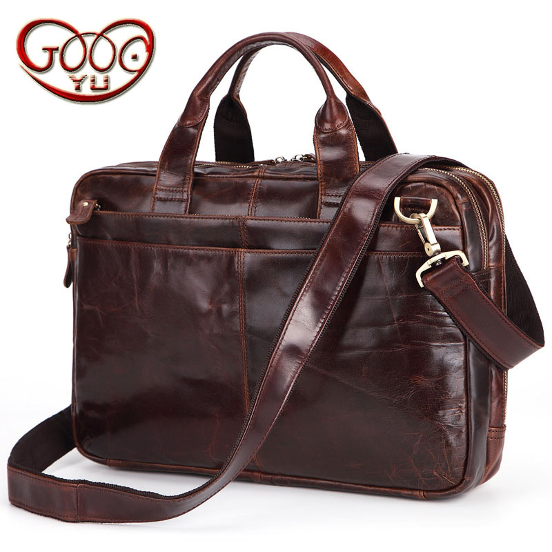 Men's first layer of leather cross-section multi-functional shoulder diagonal package business leather zipper computer bag aetoo men s casual handbag cross section leather hand first layer of leather diagonal cross bag retro shoulder bag computer bag