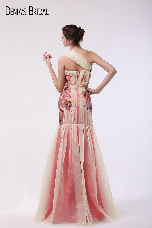 Encantador Vestido De Fiesta Sirena Amarillo Embellecimiento ...