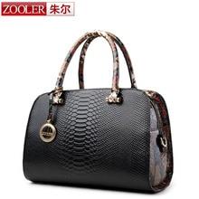 ZOOLER genuine leather Bag Ladies Luxury woman bags bag handbag fashion handbags OL Style Serpentine grain bolsa feminina #6051
