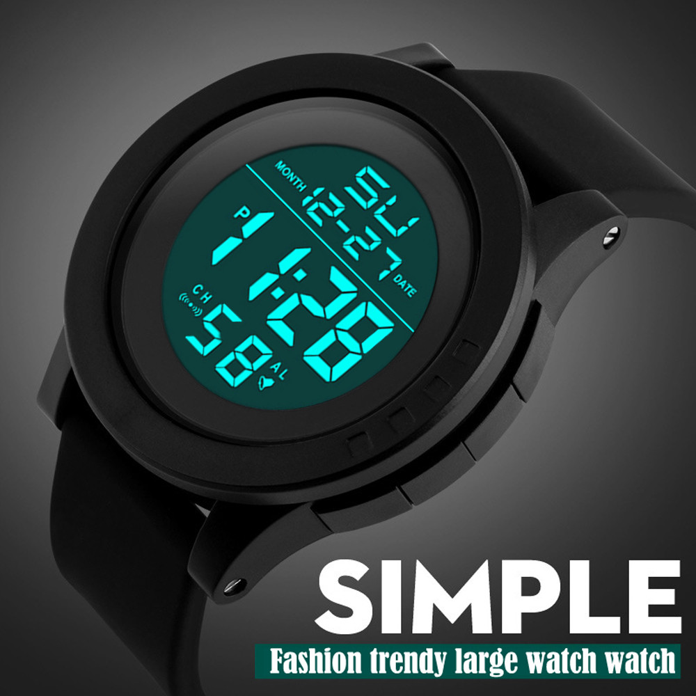 Digital Watch Men Sports Watches LED Waterproof Digital Quartz Fashion Watch Military Sport Men's Reloj Hombre Digital Silicona