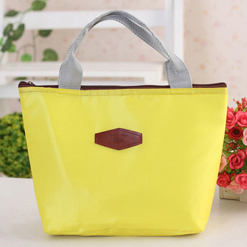 Candy Color Lunch Bag Waterproof Portable Picnic Insulated Food Storage Box Tote Lunch Bag Large Capacity Handbag Lunch Box large 34l insulated picnic bag lunch bag outdoor camping hiking picnic bags portable food storage basket handbags lunch box
