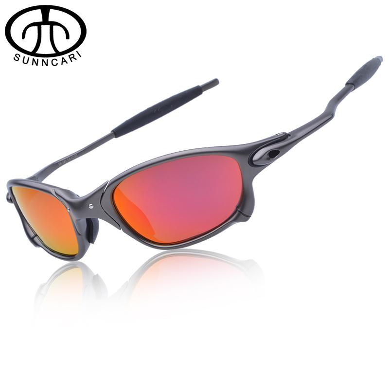 Цена за SUNNCARI Мужчины Поляризованных Велоспорт Очки Сплава Кадр Спорт Езда Очки óculos де ciclismo gafas CP005 3