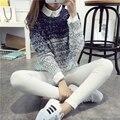 Женские зимние осень пуловеры свитер женский короткий беспривязного верхняя одежда опрятный стиль толстые топ-осень