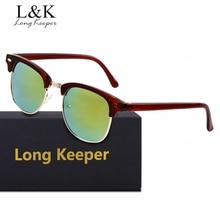 Long Keeper New Arrival Semi Rimless Sunglasses