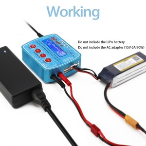 Image 4 - HTRC B6 Mini V2 80W 7A Digital RC Balance Charger Discharger for Lipo Lihv LiIon LiFe NiCd NiMH Battery AC Adapter Optional
