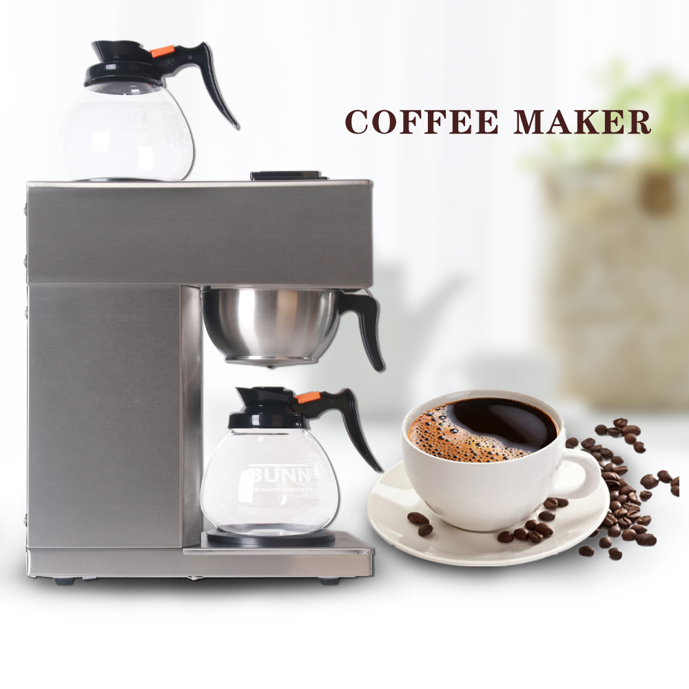 ITOP Automatic Distilling Coffee Maker Stainless Steel Americano Filting Coffee Maker Machines With Filter Papers