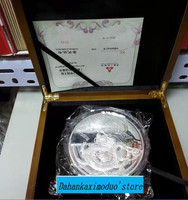 2012 Year 1000g 1kg Weight China Dragon platde Silver coins with COA certificate for collection Animal Coin gift present