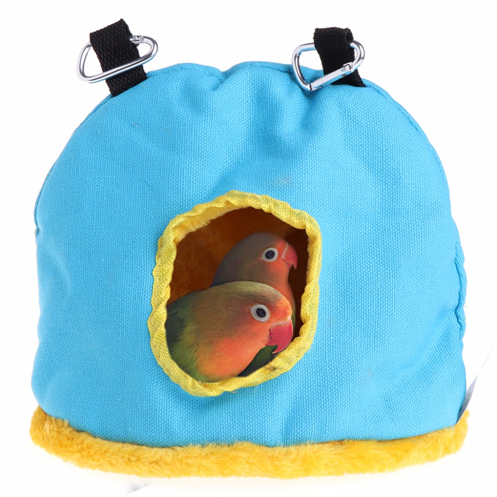 Home & Garden Obedient Winter Warm Windproof Soft Pet Bird Hanging Cave Cage Tent Bed Hammock For Parrots Birds Hamster Bird Cages & Nests