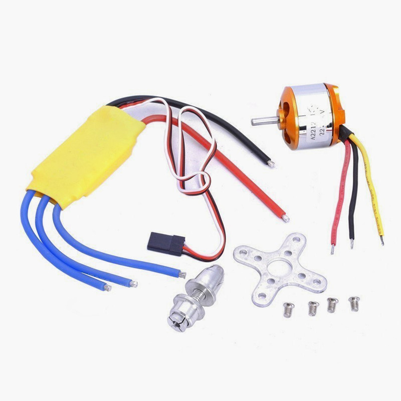 A2212 1000KV Brushless Motor + 30A ESC for Multicopter 450 X525 Quadcopter xxd a2212 1000kv brushless motor for rc airplane quadcopter