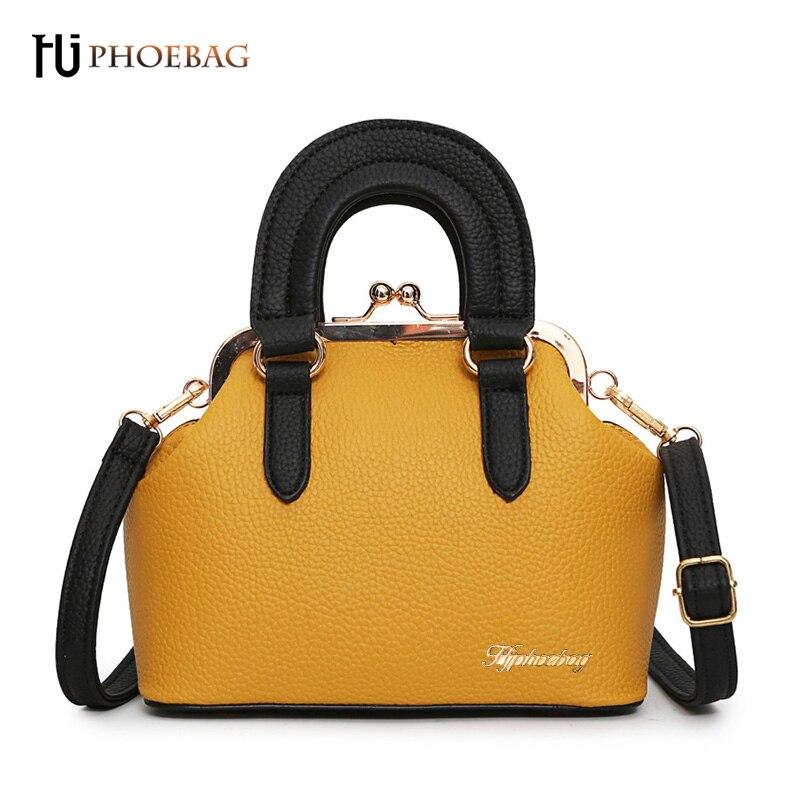 купить HJPHOEBAG Women bags Famous brand solid zipper PU leather shoulder bag for girls Ladies high quality hard single handbag XB-560 по цене 638.51 рублей