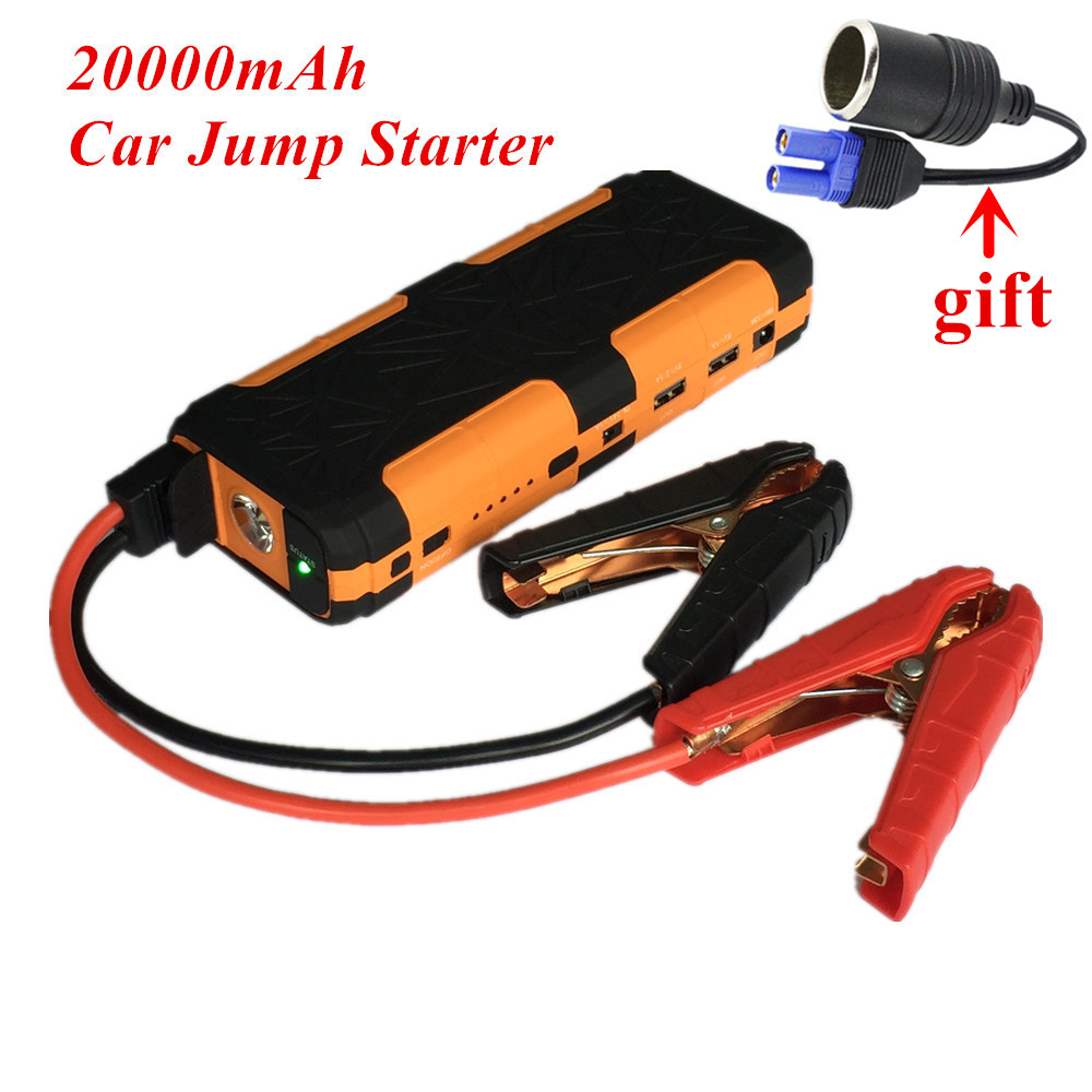 New Capacity 12V Petrol Diesel Car Jump Starter 20000mAh Portable Starting Device Power Bank 800A Car Batery Charger Booster LED 2017 30000mah 12vportable car jump booster led charger emergency start power bank new