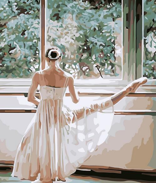 Olejomalba Bezrámový obraz Malování čísly Baletní dívka DIY Digitální plátno Olejomalba Domácí dekor do obývacího pokoje