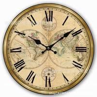Zegary ścienne Amerykański styl retro zegar ścienny dekoracji pokoju ziemi serii