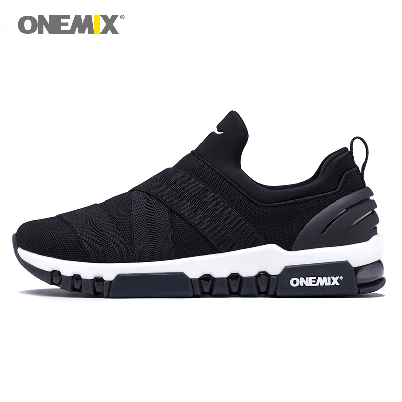 ONEMIX Max Men Running Shoes Slip on Women Trail Solft Comfortable Trainers Loafers Sports Boot Cushion Outdoor Walking Sneakers-in Running Shoes from Sports & Entertainment    1
