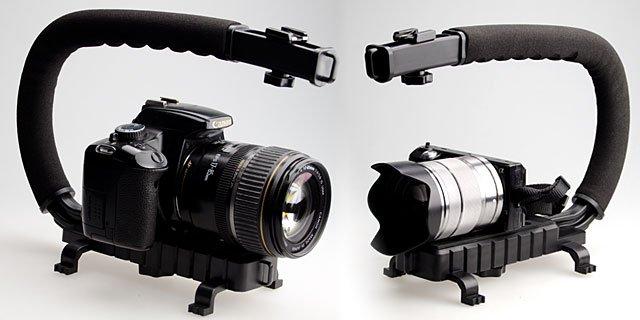 Отменная фиксация видео и камера рукоятка для устойчивости черный для микрофона видео свет
