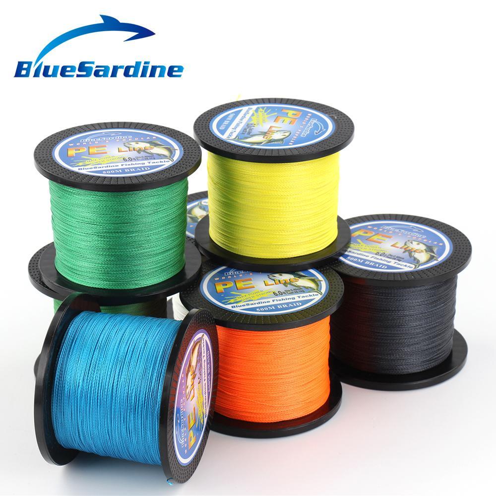 BlueSardine 500M gevlochten vislijn Multifilament PE 4 vlecht - Visvangst - Foto 3