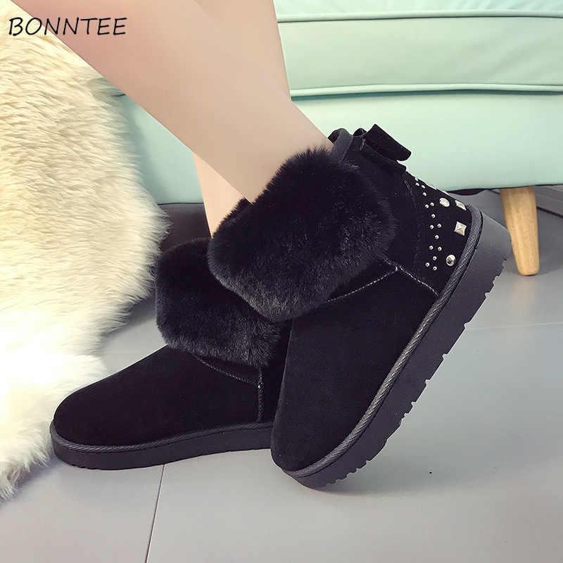 816109f6c4d Boots Women Fashion Lovely Flat Platform Ankle Womens Shoes Plus Size  Casual Australia Ugly Snow Boot Winter Warm Plush Non Slip