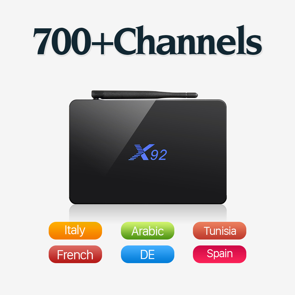 Dalletektv Arabic IPTV Box X92 Amlogic S912 Octa Core Android 6.0 TV Box 4K 2GB 16GB 2.4G 5G HDMI 2.0A Smart TV Media Player diamond a9 android 6 0 tv box amlogic s912 2gb 16gb quad core wifi hdmi 4k 2k hd smart set top box media player mini pc iptv box