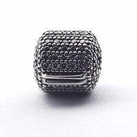 Adapte Pandora Bracelets 2016 Pave Barrel Clip Argent Perles avec Clear Cz 925 En Argent Sterling Charmes DIY Bijoux en gros