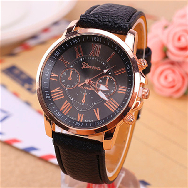 2018 New Fashion Casual Watch Men Women Wristwatch Cool Style Leather Students Q