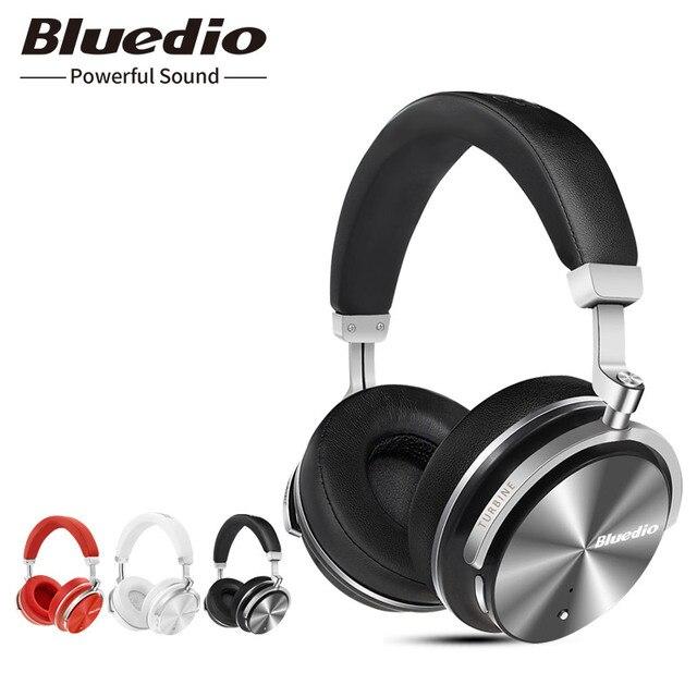 Oryginalny Bluedio T4S bluetooth słuchawki z mikrofonem ANC aktywne usuwanie szumów bezprzewodowy zestaw słuchawkowy