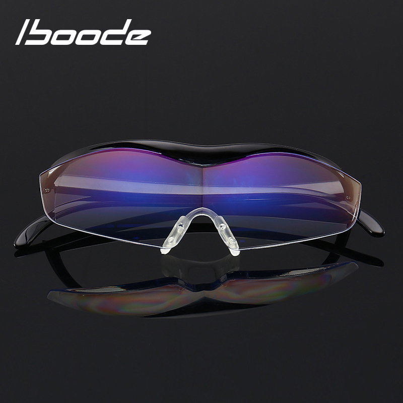 Men's Reading Glasses Iboode 1.6 Times Magnifying Glass Reading Glasses Big Vision 250 Degree Presbyopic Glasses Magnifier Eyewear 3 Colors And To Have A Long Life.