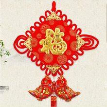 Diy chinese knot tassels pendant red New Year Decorative fringe craft Chinese Spring Festival gifts present