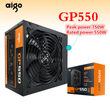 Aigo GP550 Aktif Power Supply Terbaik Di Power550W Perunggu 80PLUS Power Supply 12V ATX PC Desktop Komputer Power Supply(China)