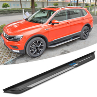 Silver Aluminum Side Step For Volkswagen Tiguan 2014 2018 VAG Nerf Bars Running Boards + Necessary Mounting Hardware