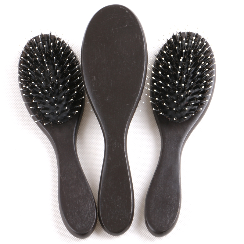 FREE Shipping 15 Pieces wooden-handle dark brown or varnish color soft bristle salon hair brush hair combs