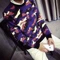 Новый 2016 Осень и Зима Стильный Молодежи Популярны Длинными Рукавами Плюс Размер Забавный Капюшоном Кофты Тис Прохладный Толстовки Для мужчины