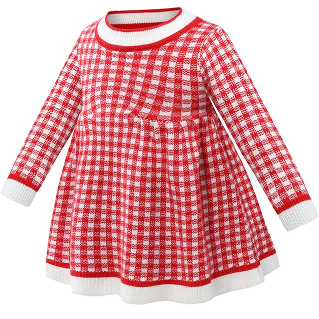 Bébé Filles Plaid Chandail Robes Vêtements Parti Robe Enfants Enfants Automne Printemps de Causalité Vêtements L'école Infantile Survêtement