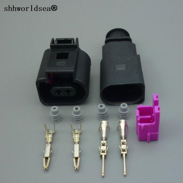Shhworldsea 1pcs 2Pin 1.5mm 1J0973802/1J0973702 Auto Temp Sensor Plug,deflation Valve Plug Waterproof Electrical Wire Connector