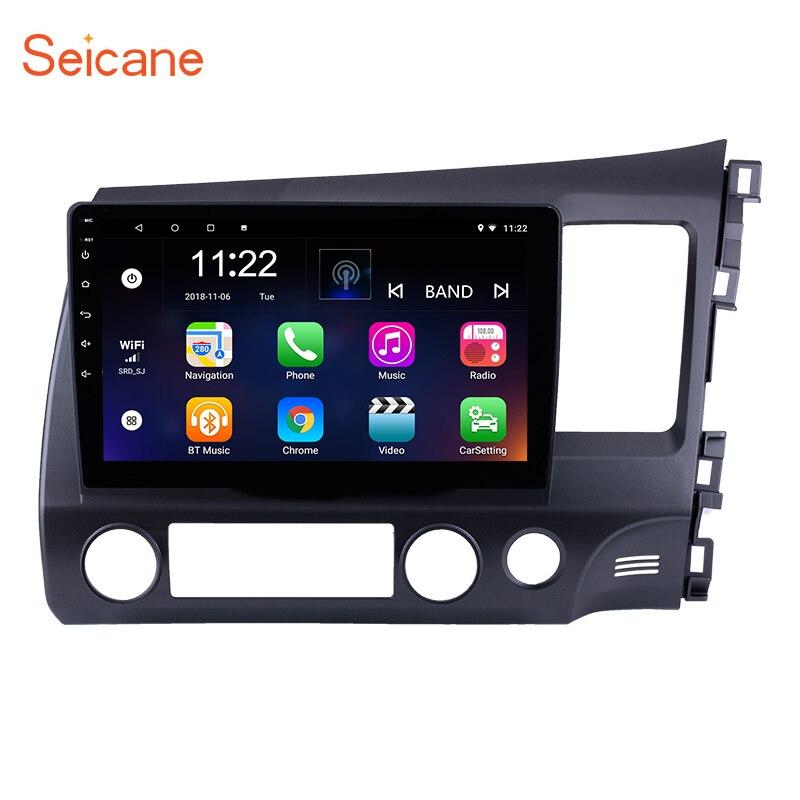 Seicane радио, Bluetooth, GPS дюймов Android 8,1 сенсорный экран 2 din автомобиль 2006 навигация для 2011-правостороннее Вождение HONDA CIVIC 10,1